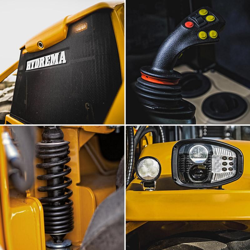 Hydremas udviklingsfolk har boltret sig med den nye F-serie. Mange detaljer er fulgt i halen af de store forandringer som Stage 4-motor og den nye front-konstruktion
